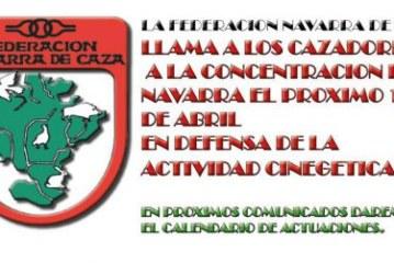 La Federación Navarra de Caza llama a los cazadores a concentrarse el 15 de abril