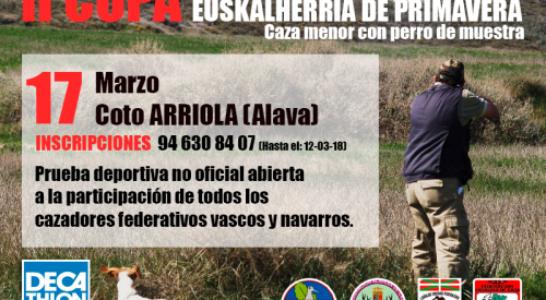 II Copa de Euskalherria de caza menor con perro