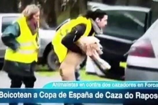 Grupos animalistas cometen acciones violentas en Copa de España de Caza del Zorro