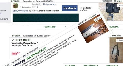La Guardia Civil denuncia la venta de armas por internet