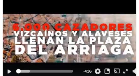 Vídeo oficial Concentración en Defensa de la Caza. Bilbao 15-4-18