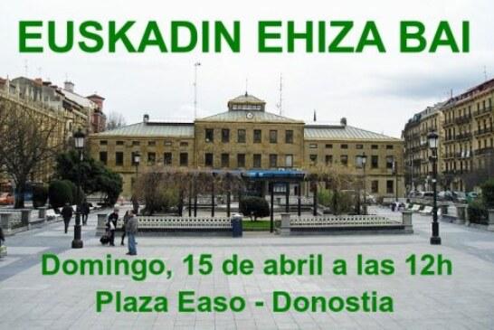 ADECAP secunda las movilizaciones del domingo en defensa de la caza de Donostia, Bilbao e Iruña (+ vídeo)