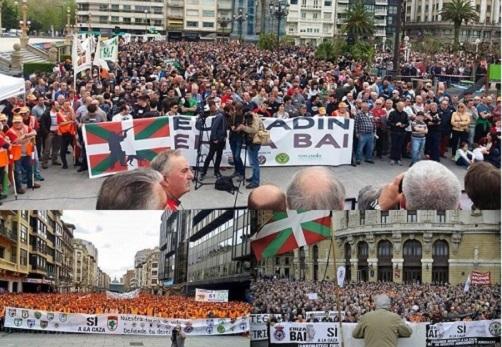 Los cazadores toman la calle en Euskadi y Navarra. ¿Qué está ocurriendo?