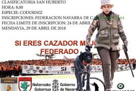 Clasificatoria San Huberto Federación Navarra de Caza