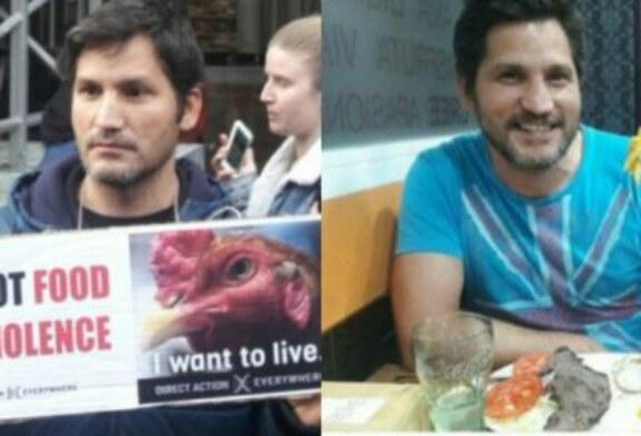 Conocido activista vegano pillado comiendo carne (+ vídeo)