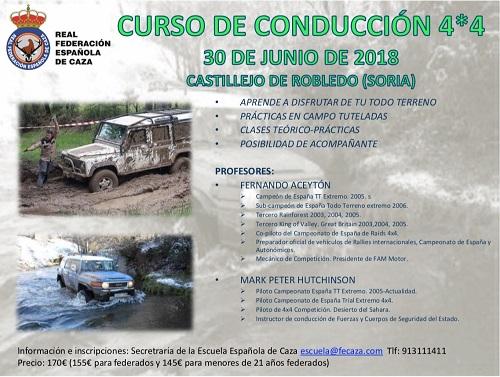 La Escuela Española de Caza organiza un curso de conducción 4×4
