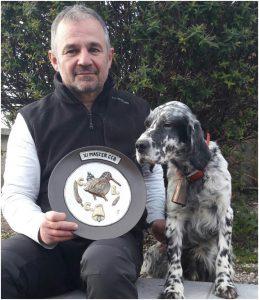 Heron Des Bois de Cernunnos (Campeón Máster CCBP 2017/2018) y su dueño Philippe Latapie.