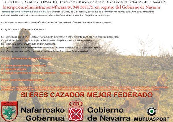 Curso para cazadores donde gestionar subproductos animales