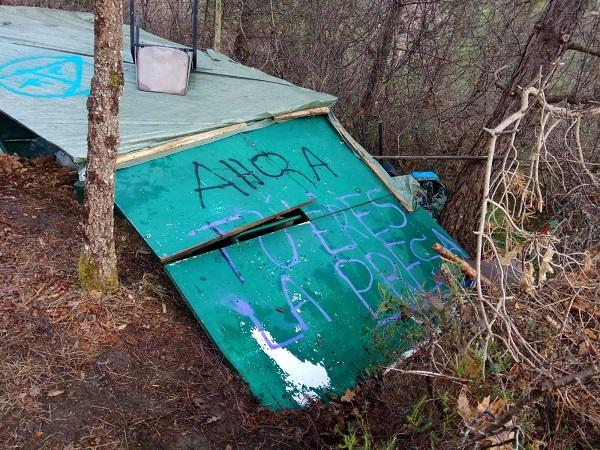 Sabotaje ecoterrorista en Álava (+ galería de fotos y vídeo)