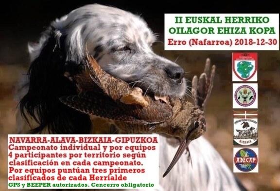 La II Copa de Euskal herria de Becadas se celebrará el 30 en Erro (Navarra)