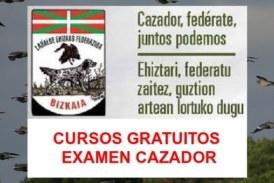 Cursos gratuitos para preparar el Examen del Cazador en Bizkaia