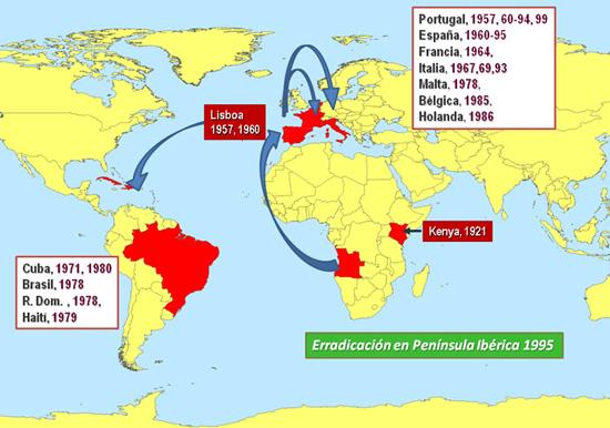 Fig.1: Epidemiología de la PPA desde 1957 hasta 1995