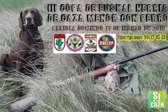 III Copa de Euskal Herria de caza menor con perro