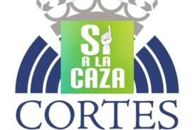 Concentración en apoyo a la caza en las Cortes de Castilla y León