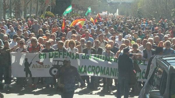 Manifiesto del Mundo Rural que participó en la manifestación de ayer en Madrid