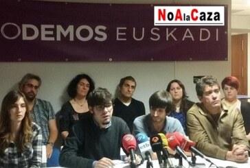 PODEMOS trabaja por una ley de protección animal que puede afectar a la caza en Euskadi