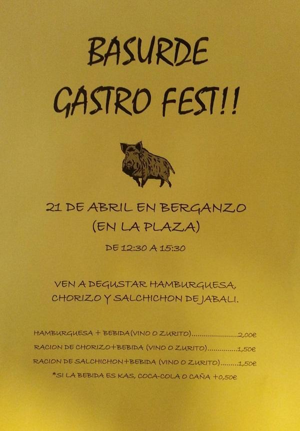 BASURDE-JABALÍ GASTRO FEST EN BERGANZO (ALAVA)