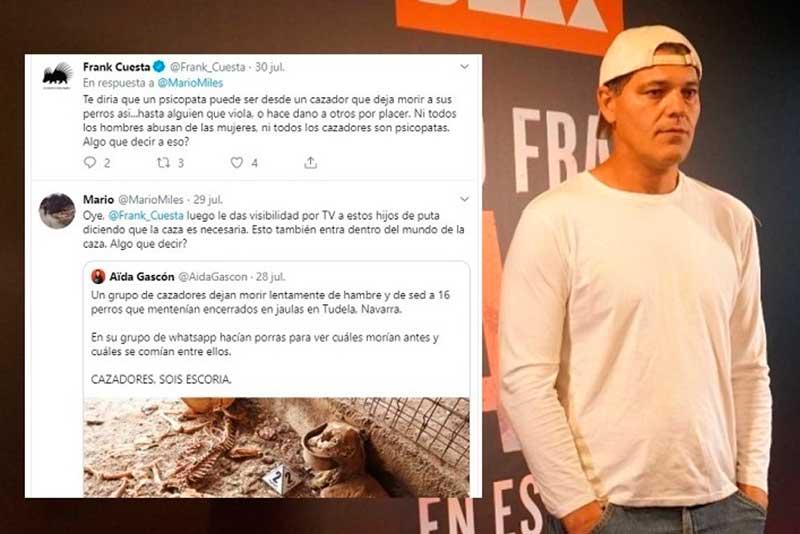 El zasca de Frank Cuesta en redes sociales a quienes critican a todos los cazadores
