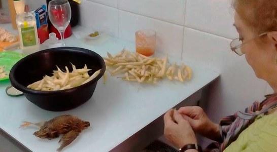 Receta de pochas con codornices