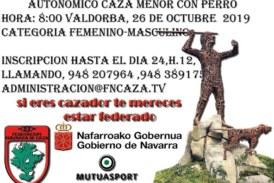 Autonómico de Navarra de Caza Menor Con Perro masculino y femenino
