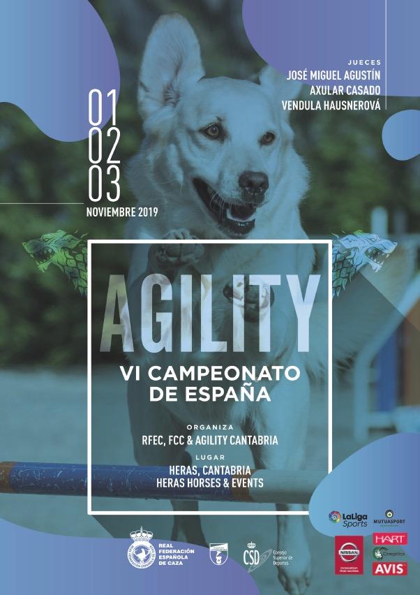 El Campeonato de España de Agility protagonizará la actividad deportiva de este fin de semana en Heras