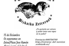 15 de diciembre Exposición Cetrera en Leioa