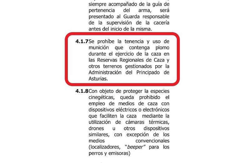 La RFEC y la Federación Asturiana presentan un escrito al Principado por la prohibición del uso de plomo en las reservas regionales de caza