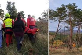 Una caída de entre 8 y 10 metros: herido grave un cazador tras precipitarse desde una palomera en Urdániz