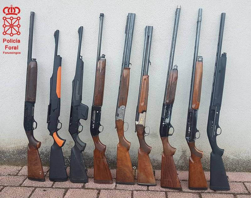Denunciados 12 cazadores por incumplir la ley de caza y el reglamento de armas en Navarra