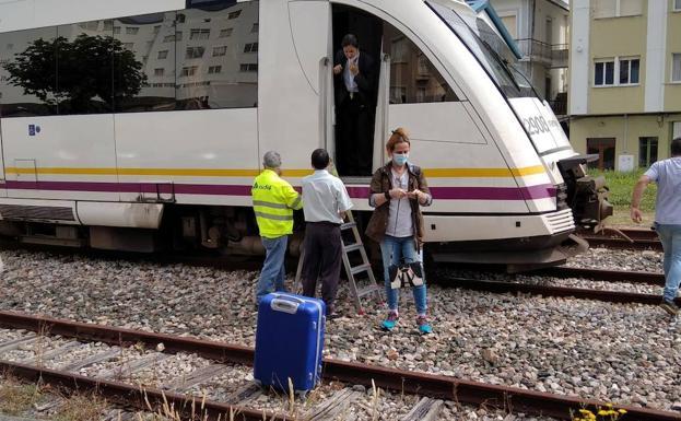 Un jabalí atropellado por un tren ocasiona graves trastornos de desplazamiento en Lugo