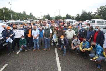 Manifestación de cazadores en Asturias: «La situación en el ámbito de la caza es insostenible»