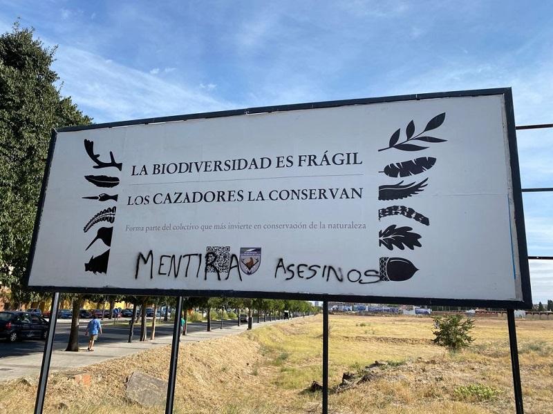 FEDEXCAZA denuncia el ataque sufrido contra la campaña de vallas de promoción de la actividad cinegética